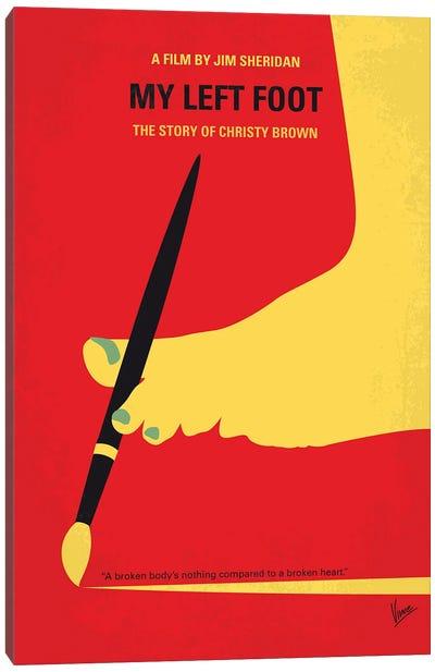My My Left Foot Minimal Movie Poster Canvas Art Print