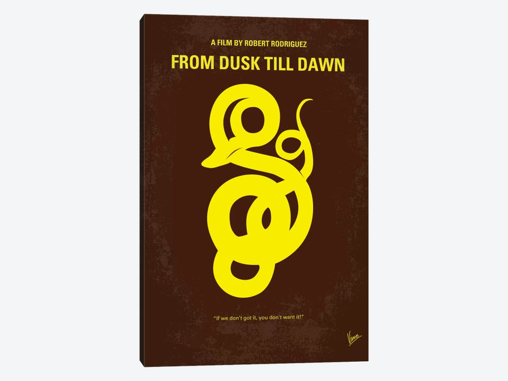 From Dusk Till Dawn Minimal Movie Poster by Chungkong 1-piece Canvas Artwork