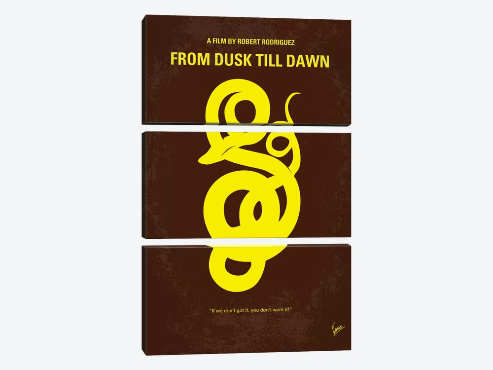From Dusk Till Dawn Minimal Movie Poster by Chungkong 3-piece Canvas Art