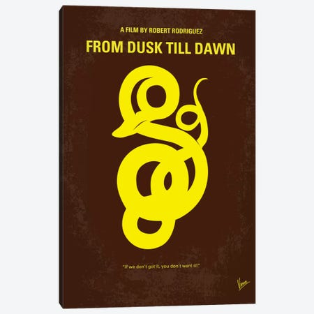 From Dusk Till Dawn Minimal Movie Poster Canvas Print #CKG140} by Chungkong Canvas Wall Art