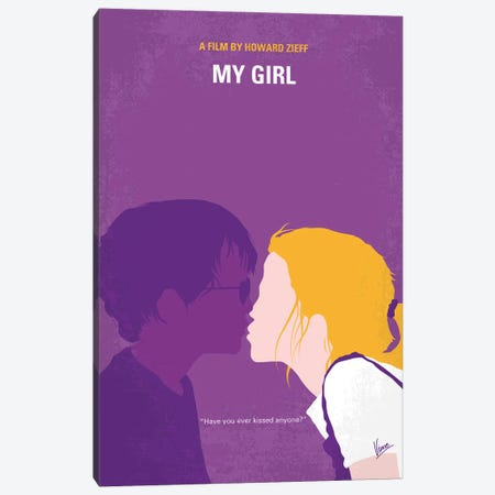 My My Girl Minimal Movie Poster Canvas Print #CKG1410} by Chungkong Canvas Art Print