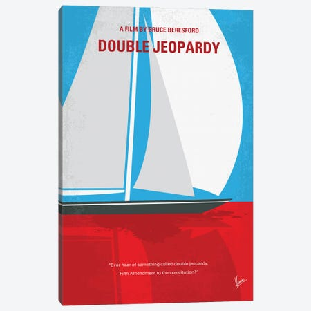 My Double Jeopardy Minimal Movie Poster Canvas Print #CKG1411} by Chungkong Canvas Print