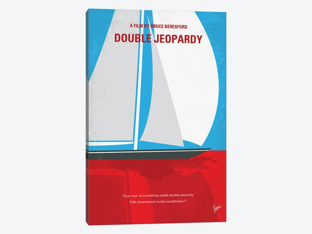 My Double Jeopardy Minimal Movie Poster by Chungkong 1-piece Canvas Art