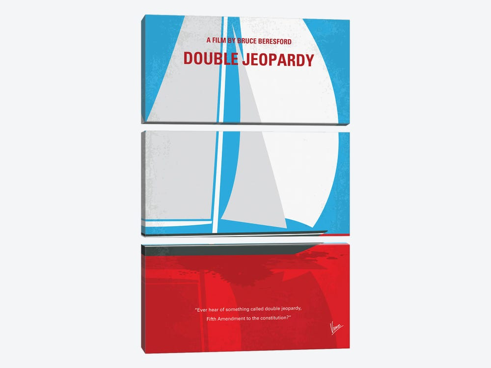 My Double Jeopardy Minimal Movie Poster by Chungkong 3-piece Canvas Art