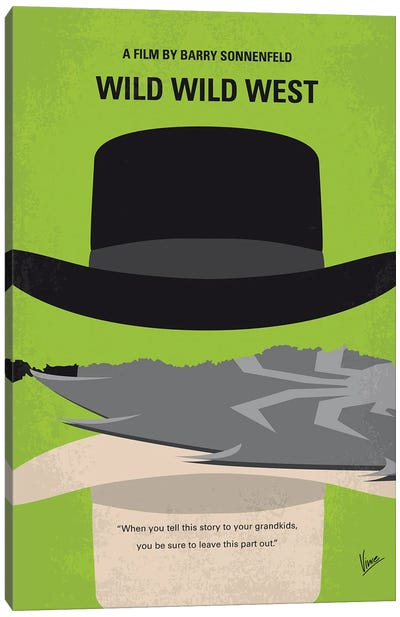 My Wild Wild West Minimal Movie Poster Canvas Art Print