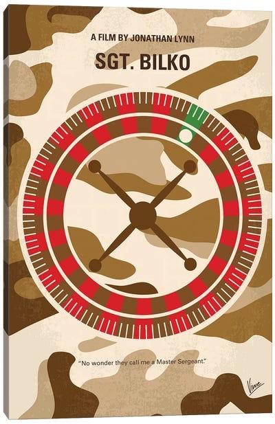 My Sgt Bilko Minimal Movie Poster Canvas Art Print