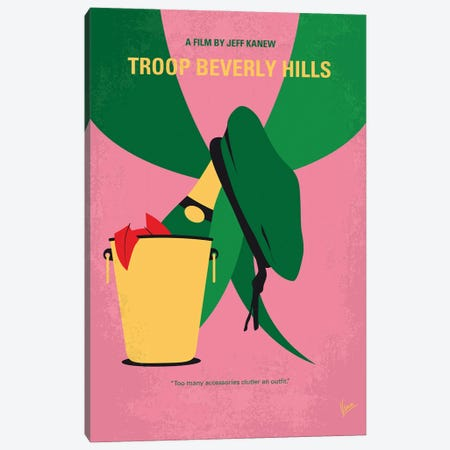 My Troop Beverly Hills Minimal Movie Poster Canvas Print #CKG1414} by Chungkong Canvas Wall Art