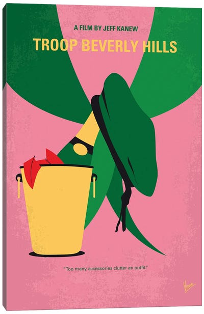My Troop Beverly Hills Minimal Movie Poster Canvas Art Print