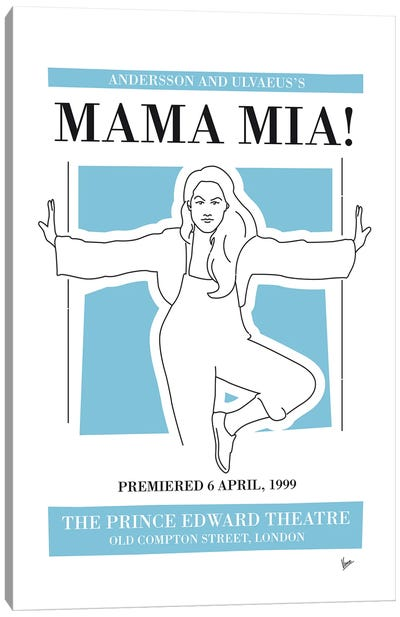 My Mama Mia Musical Poster Canvas Art Print