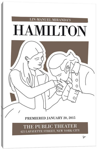 My Hamilton Musical Poster Canvas Art Print