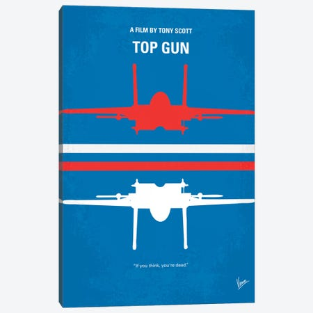 Top Gun Minimal Movie Poster Canvas Print #CKG141} by Chungkong Canvas Art