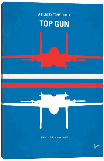 Top Gun Minimal Movie Poster Canvas Print #CKG141