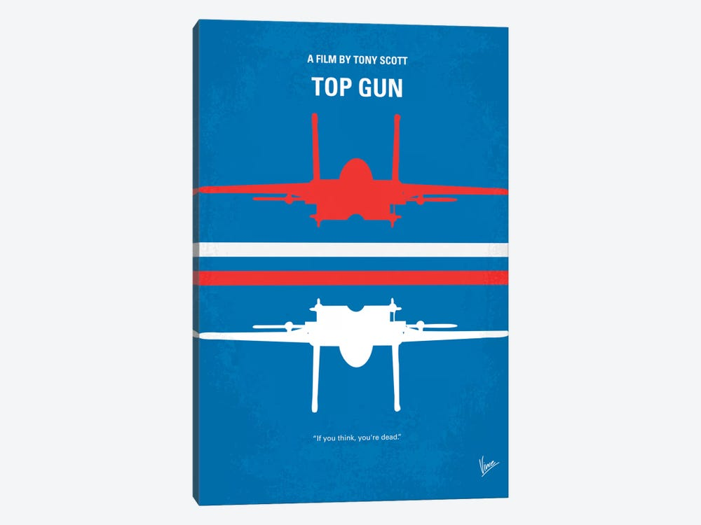Top Gun Minimal Movie Poster by Chungkong 1-piece Canvas Print
