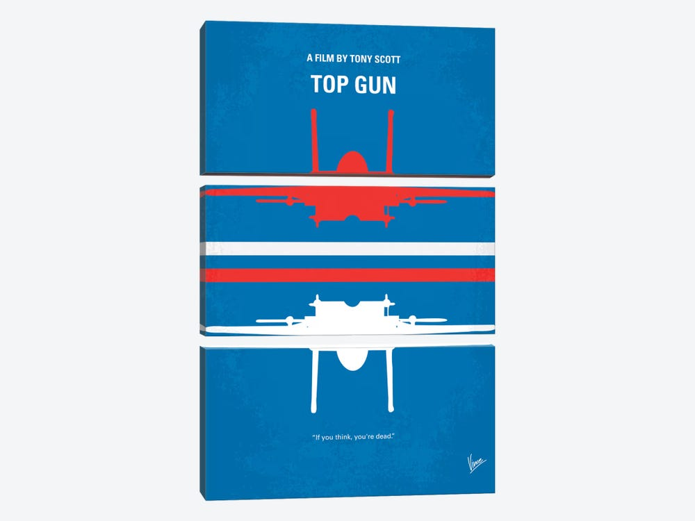 Top Gun Minimal Movie Poster by Chungkong 3-piece Art Print