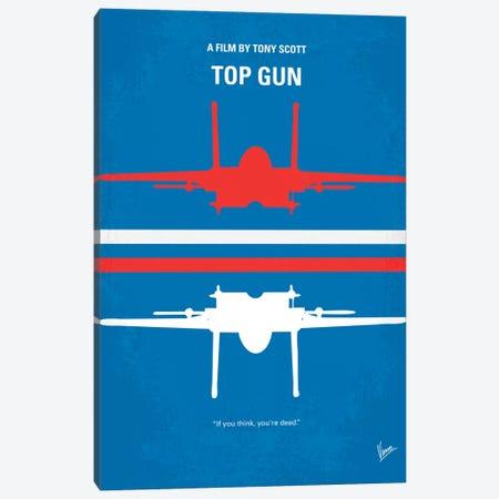 Top Gun Minimal Movie Poster Canvas Print #CKG141} by Chungkong Canvas Art