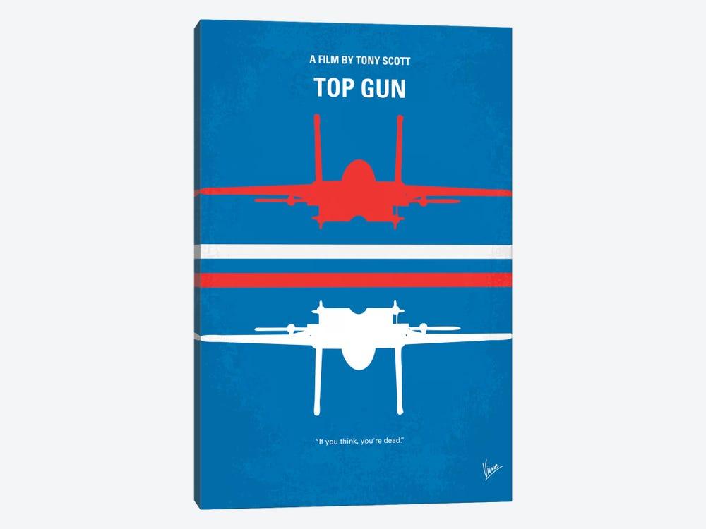 Top Gun Minimal Movie Poster by Chungkong 1-piece Canvas Print