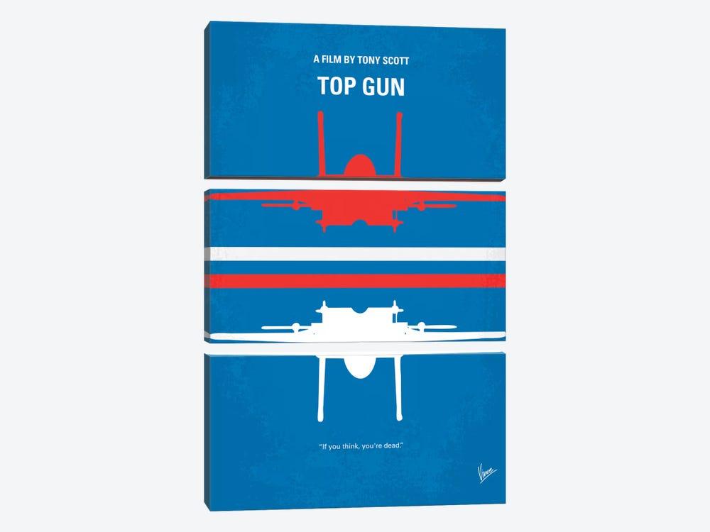 Top Gun Minimal Movie Poster by Chungkong 3-piece Art Print