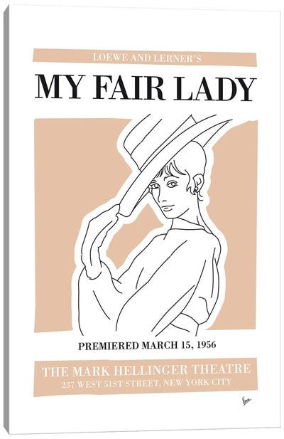 My My Fair Lady Musical Poster Canvas Art Print