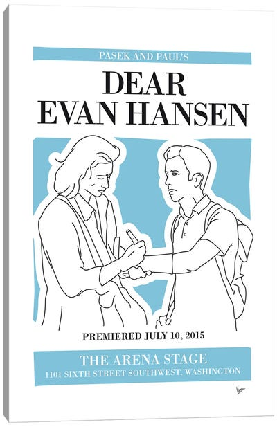 My Dear Evan Hansen Musical Poster Canvas Art Print