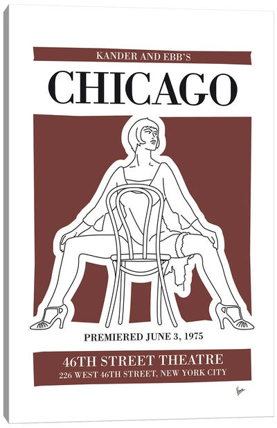 My Chicago Musical Poster Canvas Art Print