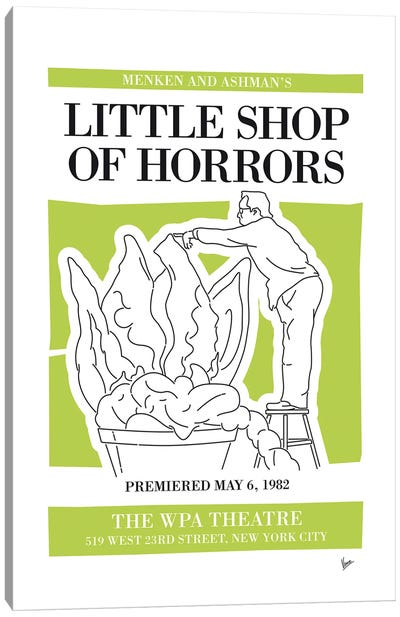 My Little Shop Of Horrors Musical Poster Canvas Art Print