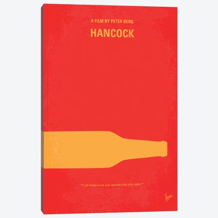 Hancock Minimal Movie Poster Canvas Print #CKG142} by Chungkong Canvas Artwork