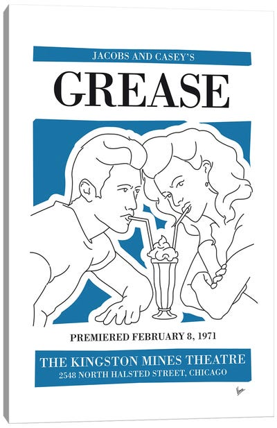 My Grease Musical Poster Canvas Art Print