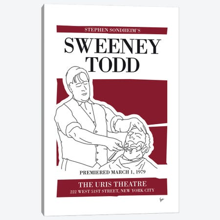 My Sweeney Todd Musical Poster Canvas Print #CKG1431} by Chungkong Canvas Art Print