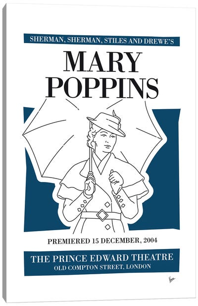 My Mary Poppins Musical Poster Canvas Art Print
