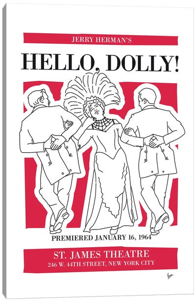 My Hello Dolly Musical Poster Canvas Art Print