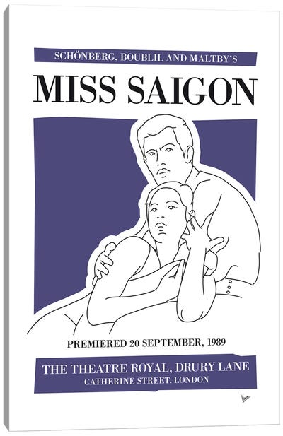 My Miss Saigon Musical Poster Canvas Art Print