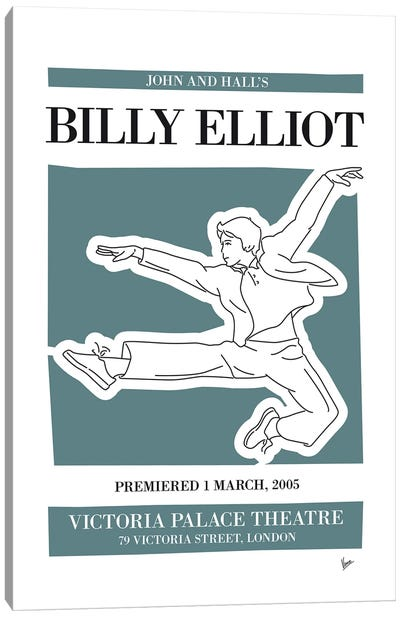 My Billy Elliot Musical Poster Canvas Art Print