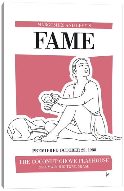 My Fame Musical Poster Canvas Art Print