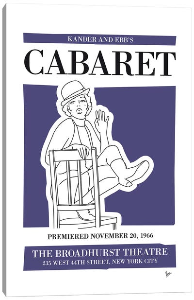 My Cabaret Musical Poster Canvas Art Print