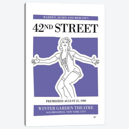 My 42nd Street Musical Poster Canvas Print #CKG1441} by Chungkong Canvas Art