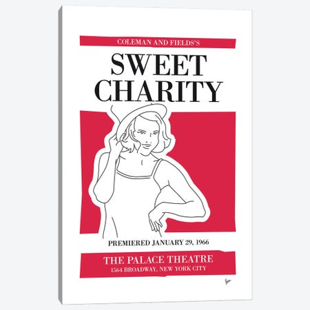 My Sweet Charity Musical Poster Canvas Print #CKG1445} by Chungkong Canvas Art Print