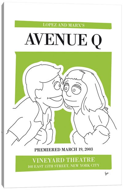 My Avenue Q Musical Poster Canvas Art Print