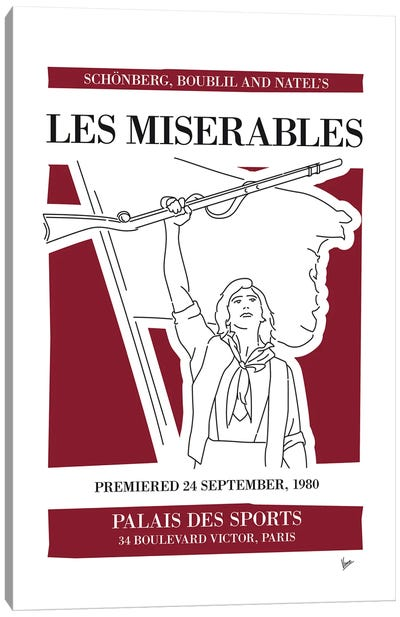 My Les Miserables Musical Poster Canvas Art Print