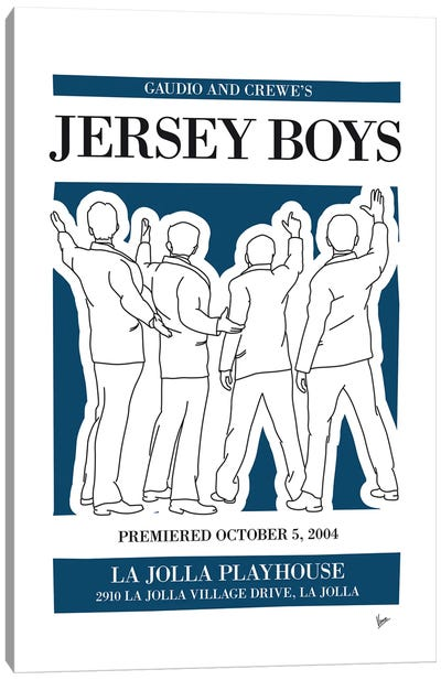 My Jersey Boys Musical Poster Canvas Art Print