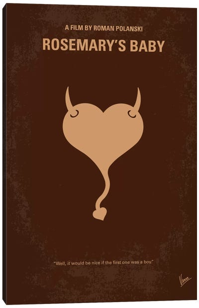 Rosemary's Baby Minimal Movie Poster Canvas Art Print