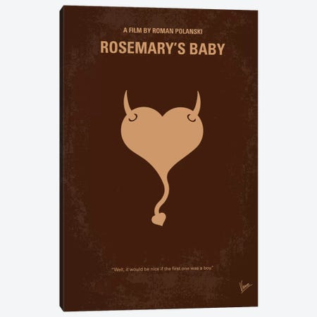 Rosemary's Baby Minimal Movie Poster Canvas Print #CKG144} by Chungkong Canvas Print