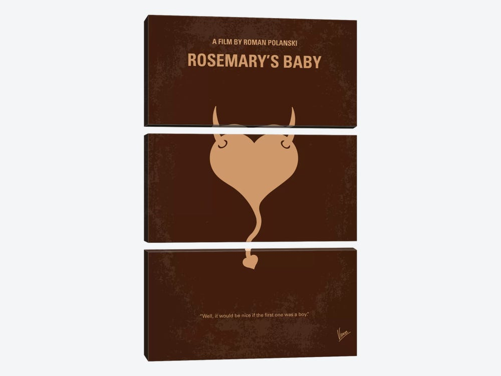 Rosemary's Baby Minimal Movie Poster by Chungkong 3-piece Canvas Art