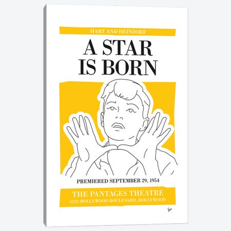 My A Star Is Born Musical Poster Canvas Print #CKG1450} by Chungkong Art Print