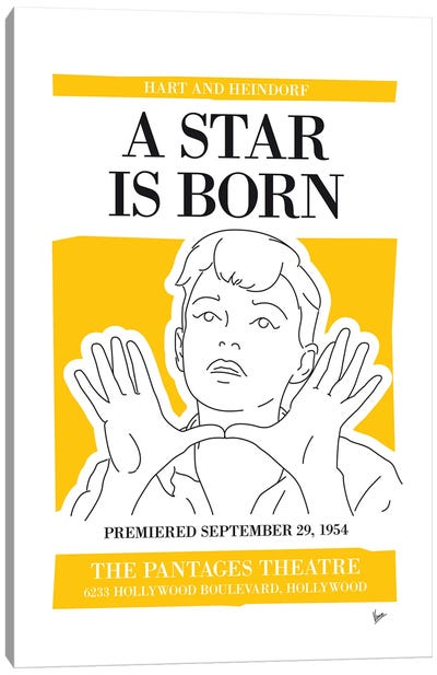 My A Star Is Born Musical Poster Canvas Art Print