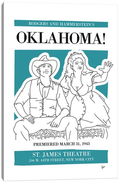 My Oklahoma Musical Poster Canvas Art Print