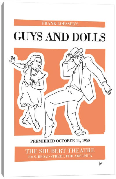 My Guys And Dolls Musical Poster Canvas Art Print