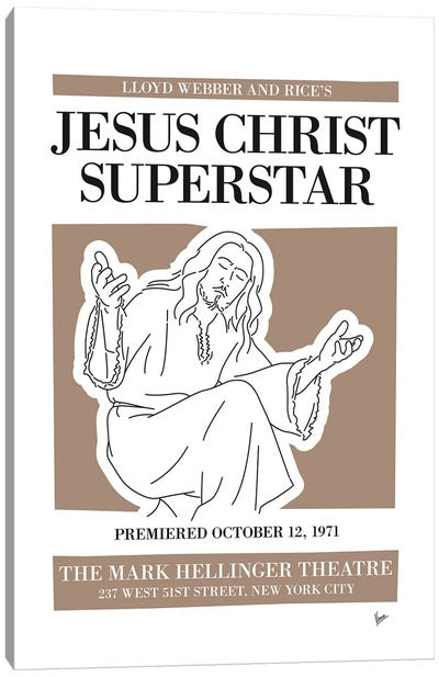 My Jesus Christ Superstar Musical Poster Canvas Art Print