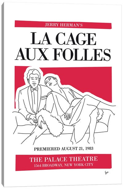 My La Cage Aux Folles Musical Poster Canvas Art Print