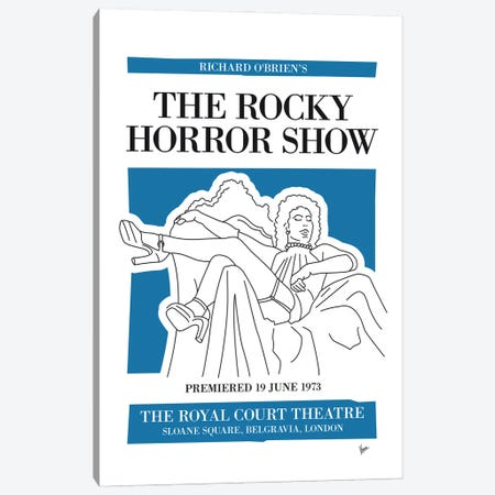 My The Rocky Horror Show Musical Poster Canvas Print #CKG1457} by Chungkong Canvas Artwork