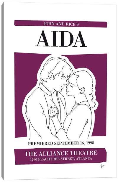My Aida Musical Poster Canvas Art Print